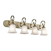 Monroe 4 Light 36 inch Sterling Gold Bath Vanity Wall Light