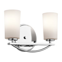 Kichler Rousseau 2 Light Wall Mt Bath 2 Arm in Chrome 45060CH
