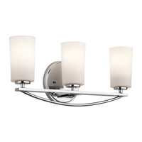 Kichler Rousseau 3 Light Wall Mt Bath 3 Arm in Chrome 45061CH