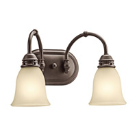 Kichler 45065OZ Durham 2 Light 16 inch Olde Bronze Bath Vanity Wall Light