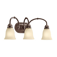 Kichler 45066OZ Durham 3 Light 23 inch Olde Bronze Bath Vanity Wall Light photo thumbnail