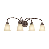 Kichler 45067OZ Durham 4 Light 32 inch Olde Bronze Bath Vanity Wall Light photo thumbnail