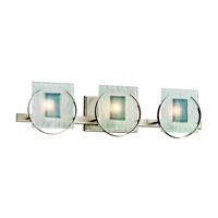 Kichler Lighting Manitoba 3 Light Bath Vanity in Brushed Nickel 45074NI photo thumbnail