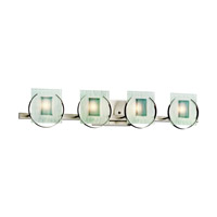 Kichler Lighting Manitoba 4 Light Bath Vanity in Brushed Nickel 45075NI photo thumbnail