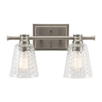 Nadine 2 Light 16 inch Brushed Nickel Vanity Light Wall Light
