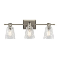 Nadine 3 Light 25 inch Brushed Nickel Vanity Light Wall Light