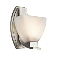 Kichler Lighting Claro 1 Light Wall Sconce in Brushed Nickel 45113NI