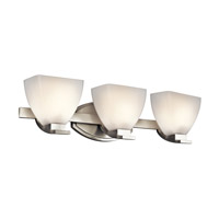 Kichler Lighting Claro 3 Light Bath Vanity in Brushed Nickel 45115NI photo thumbnail