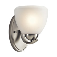Kichler 45117NI Calleigh 1 Light 6 inch Brushed Nickel Wall Sconce Wall Light