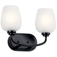 Kichler 45128BK Valserrano 2 Light 15 inch Black Bath Vanity Light Wall Light