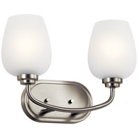 Kichler 45128NI Valserrano 2 Light 15 inch Brushed Nickel Vanity Light Wall Light