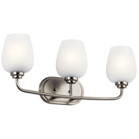 Kichler 45129NI Valserrano 3 Light 24 inch Brushed Nickel Bath Vanity Light Wall Light