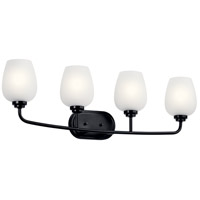Kichler 45130BK Valserrano 4 Light 34 inch Black Bath Vanity Light Wall Light