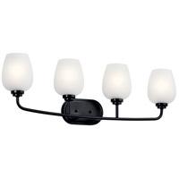 Kichler 45130BK Valserrano 4 Light 34 inch Black Vanity Light Wall Light