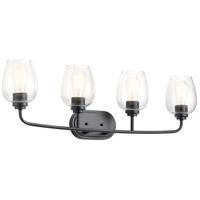 Kichler 45130BKCS Valserrano 4 Light 34 inch Black Vanity Light Wall Light