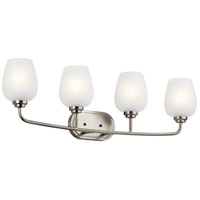 Kichler 45130NI Valserrano 4 Light 34 inch Brushed Nickel Bath Vanity Light Wall Light