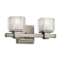 Kichler Lighting Rocklin 2 Light Bath Vanity in Brushed Nickel 45142NI photo thumbnail