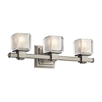 Kichler Lighting Rocklin 3 Light Bath Vanity in Brushed Nickel 45143NI photo thumbnail