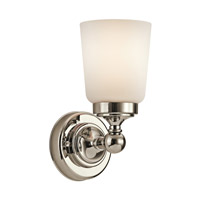 Kichler Lighting Perth 1 Light Wall Sconce in Polished Nickel 45165PN photo thumbnail