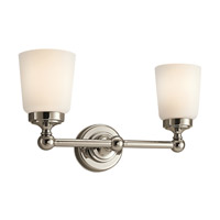 Kichler Lighting Perth 2 Light Bath Vanity in Polished Nickel 45166PN photo thumbnail
