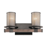 Ahrendale 2 Light 16 inch Anvil Iron Vanity Light Wall Light
