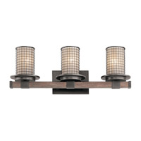 Ahrendale 3 Light 24 inch Anvil Iron Vanity Light Wall Light