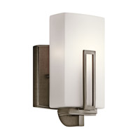 Kichler Lighting Leeds 1 Light Wall Sconce in Shadow Bronze 45224SWZ photo thumbnail