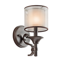 Kichler Lighting Lacey 1 Light Wall Sconce in Mission Bronze 45281MIZ