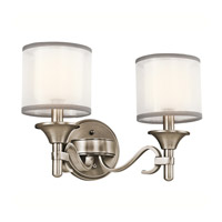 Kichler 45282AP Lacey 2 Light 14 inch Antique Pewter Wall Mt Bath 2 Arm Wall Light