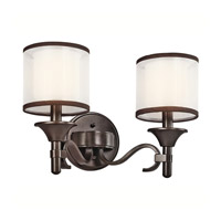 Lacey 2 Light 14 inch Mission Bronze Bath Vanity Wall Light