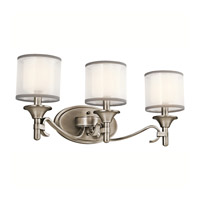 Lacey 3 Light 22 inch Antique Pewter Bath Vanity Wall Light