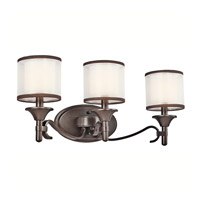 Lacey 3 Light 22 inch Mission Bronze Bath Vanity Wall Light