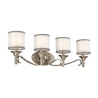 Kichler 45284AP Lacey 4 Light 31 inch Antique Pewter Wall Mt Bath 4 Arm Wall Light