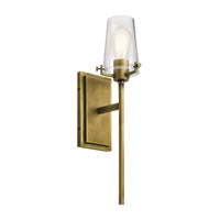 Kichler 45295NBR Alton 1 Light 5 inch Natural Brass Wall Bracket Wall Light