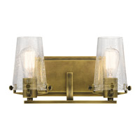 Alton 2 Light 14 inch Natural Brass Vanity Light Wall Light