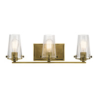 Alton 3 Light 24 inch Natural Brass Vanity Light Wall Light
