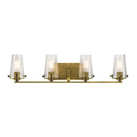 Alton 4 Light 34 inch Natural Brass Vanity Light Wall Light