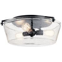Kichler 45299BK Alton 3 Light 19 inch Black Flush Mount Light Ceiling Light