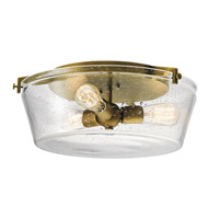 Alton 3 Light 19 inch Natural Brass Flush Mount Ceiling Light