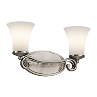 Kichler Lighting Wickham 2 Light Bath Vanity in Classic Pewter 45301CLP photo thumbnail