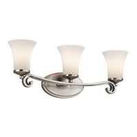 Kichler Lighting Wickham 3 Light Bath Vanity in Classic Pewter 45302CLP photo thumbnail