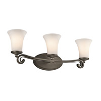 Kichler Lighting Wickham 3 Light Bath Vanity in Olde Bronze 45302OZ photo thumbnail