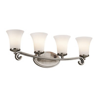 Kichler Lighting Wickham 4 Light Bath Vanity in Classic Pewter 45303CLP photo thumbnail