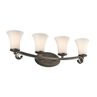 Kichler Lighting Wickham 4 Light Bath Vanity in Olde Bronze 45303OZ
