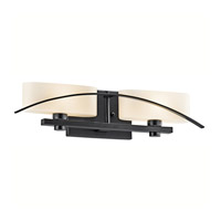 Kichler Lighting Suspension 2 Light Bath Vanity in Black 45316BK photo thumbnail
