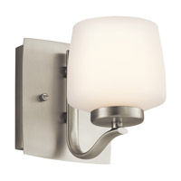 Kichler Lighting Truett 1 Light Wall Sconce in Brushed Nickel 45328NI photo thumbnail