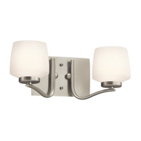 Kichler Lighting Truett 2 Light Bath Vanity in Brushed Nickel 45329NI photo thumbnail