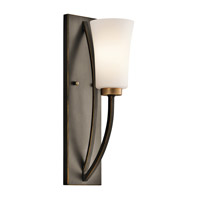 Kichler Lighting Edgecomb 1 Light Wall Sconce in Olde Bronze 45338OZ photo thumbnail