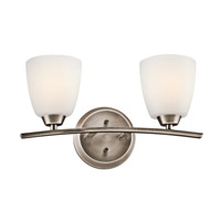 Granby 2 Light 17 inch Brushed Pewter Bath Vanity Wall Light