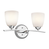 Kichler 45359CH Granby 2 Light 17 inch Chrome Bath Vanity Wall Light photo thumbnail